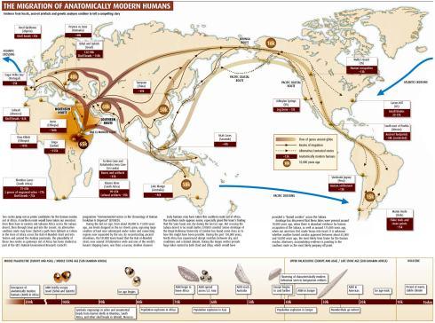 Migración de humanos desde África